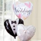 バルーン電報 結婚式 送料無料 ハッピーウエディングバルーンセット(クラスター) 人気のバルーンギフト