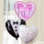 バルーン電報 結婚式 送料無料 ハッピーウエディングバルーンセット(リング) 人気のバルーンギフト