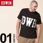 Tシャツ 半袖 大きいサイズ メンズ サカゼン 綿100% BIGロゴ クルーネック ブラック EDWIN