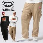 ロングパンツ 大きいサイズ メンズ ポケット ロゴ刺繍 ドローコード ストリート ウエストゴム 3L-6L ECKO UNLTD