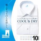 大きいサイズ メンズ ワイシャツ  半袖  3L 4L 5L 6L SEA BREEZE  シーブリーズ  春夏 形態安定 吸水速乾