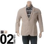 大きいサイズ メンズ ジャケット 3L 4L 5L LOUIS CHAVLON ルイシャブロン 麻混 フェイクチーフポケット付き シングル 2ツ釦