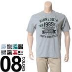 大きいサイズ メンズ Tシャツ 半袖 2L 3L 4L 5L LA-FIORI ラ・フィオリ カレッジプリント クルーネック