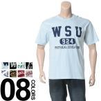 大きいサイズ メンズ Tシャツ 半袖 2L 3L 4L 5L LA-FIORI ラ・フィオリ 綿100% プリント ポケット付き クルーネック