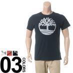 大きいサイズ メンズ Tシャツ 半袖 1XL 2XL Timberland ティンバーランド 綿100% ロゴプリント クルーネック