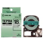 (まとめ) キングジム テプラ PRO テープカートリッジ カラーラベル(パール) 18mm 緑/黒文字 SMP18G 1個 〔×4セット〕