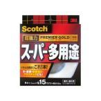(まとめ)スコッチ 超強力両面テープ プレミアゴールド (スーパー多用途)15mm×10m 10巻