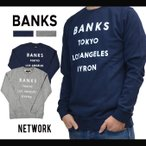 BANKS (バンクス) NETWORK FLEECE クルーネック スウェット トレーナー フリース メンズ