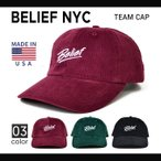 BELIEF NYC (ビリーフ) TEAM CAP 6-PANEL CAP キャップ 6パネルキャップ 帽子 ストラップバックキャップ