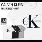 Calvin Klein Jeans (カルバン クライン ジーンズ) REISSUE LOGO T-SHIRT TEE Tシャツ 半袖 メンズ 黒/白/灰 ブラック/ホワイト/グレー S-XL 41QK961