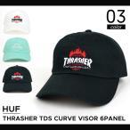 HUF(ハフ) THRASHER TDS CURVE VISOR 6-PANEL CAP キャップ 帽子 ストラップバックキャップ スラッシャー 6-PANEL CAP 6パネル ストリート スケート