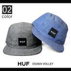 HUF (ハフ) OSAKA VOLLEY CAP キャップ 帽子 ストラップバックキャップ 5-PANEL CAP 5パネルキャップ ジェットキャップ