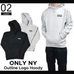ONLY NY(オンリーニューヨーク) OUTLINE LOGO HOODY プルオーバー パーカー スウェット フリース メンズ ストリート スケート