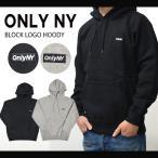 ONLY NY オンリーニューヨーク BLOCK LOGO HOODY プルオーバー パーカー スウェット フリース
