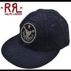 RRL by Ralph Lauren ラルフローレン ダブルアールエル Ebbets Field Flannels Cap ワークキャップ 帽子 キャップ NAVY