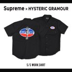 エントリーでポイント10倍/ Supreme × HYSTERIC GRAMOUR (シュプリーム × ヒステリック グラマー) S/S WORK SHIRT ワークシャツ 半袖 メンズ SUPREME
