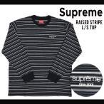 エントリーでポイント10倍 Supreme (シュプリーム) RAISED L/S TOP TEE Tシャツ 長袖 カットソー メンズ SUPREME