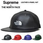 Supreme × THE NORTH FACE シュプリーム × ノースフェイス LEATHER 6-PANEL HAT CAP レザー キャップ 6パネルキャップ 帽子 ストラップバックキャップ SUPREME