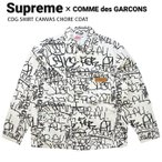 Supreme �� COMME des GARCONS SHIRT ����ץ�� �� ����ǥ���륽����� Printed Canvas Chore Coat ������㥱�å� ���С������� SUPREME