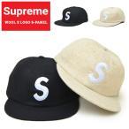 Supreme シュプリーム キャップ WOOL S LOGO 6-PANEL CAP 6パネルキャップ 帽子 ストラップバックキャップ SUPREME
