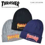 THRASHER スラッシャー ビーニー FLAME LOGO BEANIE ニットキャップ 帽子 ニット帽 18TH-N54 ネコポス便発送で送料無料