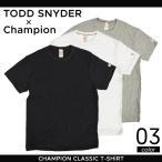 TODD SNYDER (トッドスナイダー) × CHAMPION (チャンピオン) CHAMPION CLASSIC T-SHIRT BASIC TEE Tシャツ 半袖 メンズ アメカジ コラボ トップス ティーシャツ