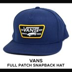 ショッピングVans VANS (バンズ) FULL PATCH SNAPBACK HAT CAP スナップバック キャップ メンズ レディース ユニセックス 帽子 ストリート スケート ヴァンズ