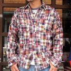 BUDDYオリジナル★SPRINGFORD★パッチワークネルシャツ ピンク系 アメカジ メンズ 長袖 Patch Work Flannel shirt