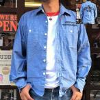 ショッピングプリント シャンブレーシャツ プリント入り ARIZONA THUNDERBIRD アリゾナ サンダーバード BUDDY オリジナル アメカジ メンズ 長袖 ワークシャツ CHAMBRAY SHIRTS
