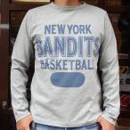 BUDDY 別注 Champion ロングスリーブTシャツ(NEW YORK BANDITS)/チャンピオン・ロチェスター 長袖 Tシャツ ROCHESTER LONG SLEEVE ニューヨーク