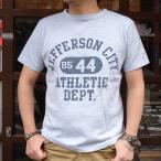 BUDDY 別注 Champion ロチェスター ヘザーTシャツ(JEFFERSON CITY ATHLETIC DEPT.) 17SS Rochester チャンピオン (C3-K317) 霜降り アメカジ ヘザーブルー