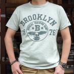 BUDDY 別注 Champion ロチェスター ヘザーTシャツ(BROOKLYN 1976) 17SS Rochester チャンピオン (C3-K317) 霜降り アメカジ ヘザーグリーン