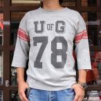 チャンピオン フットボールシャツ Champion BUDDY 別注 バディ 3/4スリーブ 七分袖 U of G アメカジ カレッジ UNIVERSITY OF GEORGIA C3-L405