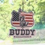 BUDDY オリジナル AIR FRESHENER Statue of Liberty・ENJOY WITH BUDDY!! 自由の女神 エアフレッシュナー 芳香剤 消臭剤 インディアン