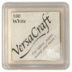 バーサクラフト Sサイズ ホワイト 白 スタンプ台 布用スタンプパッド インクパッド 水性顔料インク ツキネコ VKS-180