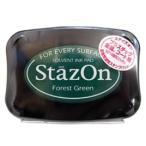 ステイズオン フォレストグリーン 緑 スタンプ台 多目的スタンプパッド インクパッド 油性染料系インク ツキネコ SZ-99