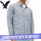 アメリカンイーグル  無地シャツ  長袖  メンズ  ボタン  ポケット  XS〜XXXL  カジュアル  新作  AEO