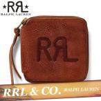 RRL  ダブルアールエル  レザー財布  札入れ  カード入れ  二つ折り財布  ジップ  ラフアウト  牛革100%  ラルフローレン  新作