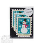 Mark's/マークス スタンプ3枚セット・ミニ/クリスマスカード(スノーマン)