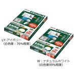 コクヨ KPC-VE15 マルチプリンタ用名刺用紙 マイクロミシン目 両面普通紙 A4 10面100枚