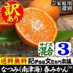 紀州有田みかんの里から・なつみ(南津海)みかん(わけあり柑橘:買得品3kg)ご家庭用 ・ この果実は種があります/春みかん・春かんきつ