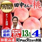 桃!紀州和歌山 大きなわかやまの桃(もも) 13玉前後:約4kg(白鳳・嶺鳳・白桃) 化粧箱入