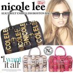 Nicole lee ニコールリー ニコルリー ボストン バッグ(ALICE BELT EMBELLISH BOSTON BAG)