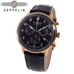 送料無料 ツェッペリン ヒンデンブルク クオーツ メンズ 腕時計 7084-2 ブラック ツェッペリン腕時計 ツェッペリン時計 人気 ブランド