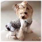 ワンピ キャミ 豹柄 ワンピース color ブラウン 愛犬服