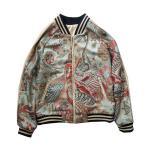 [ヨコスカ] 男女兼用 孔雀刺繍マーク スカジャン ジャケット 横須賀ファッション サイズS~L 野球服