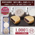 お試し高級最中3個入 菊屋 無添加 もなか 1000円ポッキリ ポイント消化 セール