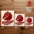 TJ BRAND ORIGINAL Die-cut Sticker TJ red Small / ティージェイブランド オリジナル ダイカットステッカー 限定カラー