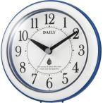 バスクロック 掛け時計 置き時計 掛け置き兼用 防滴 防塵 シチズン リズム時計 アクアパークDN バスクロック キッチンクロック 防滴防塵型 アナログ 4KG711DN04