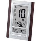 電波時計 置き時計 掛け時計 置き掛け兼用 置時計 壁掛け時計 掛時計 デジタルロゼッタ 日めくりカレンダーカルネヴァーレ W-607 BR